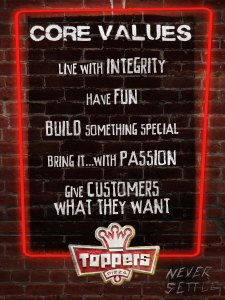CORE VALUES BRICK